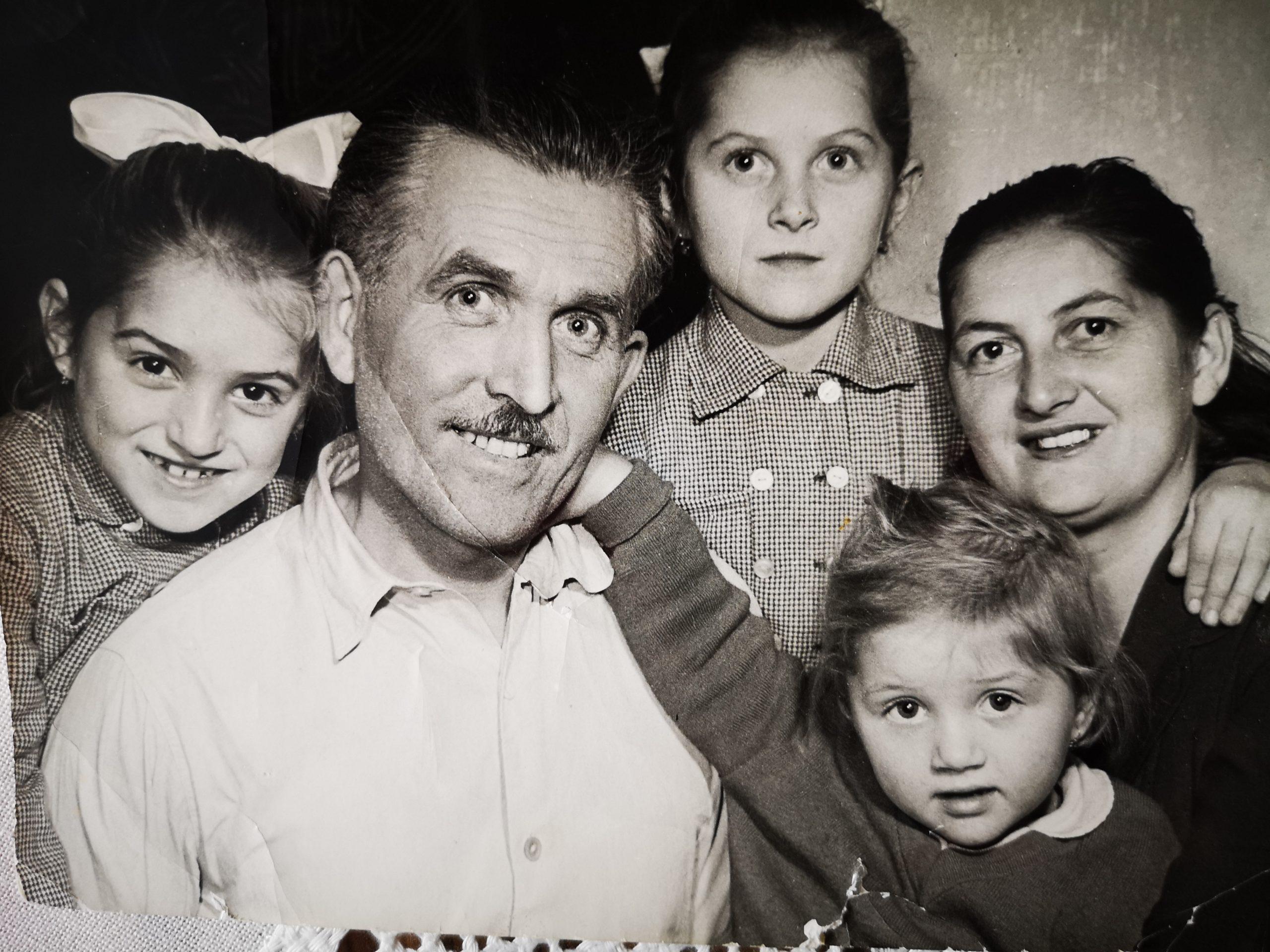 Oskar Mašek s rodinou